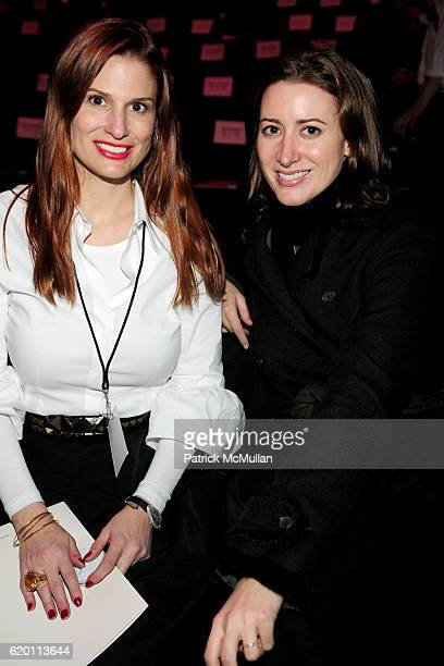 Ashley Bryan and Alexis Bryan attend BCBG MAX AZRIA Fall 2008 Collection at The Tent on February 1 2008 in New York City