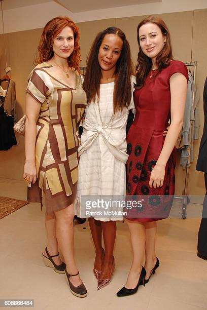 Ashley Bryan Maggie Betts and Alexis Bryan attend MAX and LUBOV AZRIA Present their Resort Collections at BCBG MAX AZRIA GROUP Showroom on June 5...