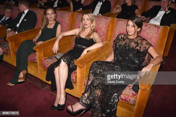Ashley Bush Amanda Hearst and Jamie Braverman attend Hearst Castle Preservation Foundation Benefit Weekend 'James Bond 007 Costume Gala' at Hearst...