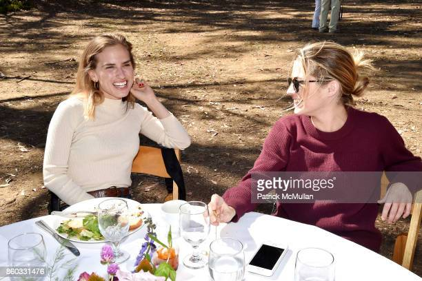 Ashley Bush and Amanda Hearst attend Hearst Castle Preservation Foundation Annual Benefit Weekend 'Lunch at the Hearst Ranch Wine Warehouse' at Wine...