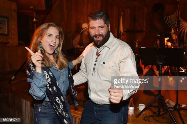 Ashley Bush and John Hampton attend Hearst Castle Preservation Foundation Annual Benefit Weekend 'Hearst Ranch Patron Cowboy Cookout' at Hearst Dairy...