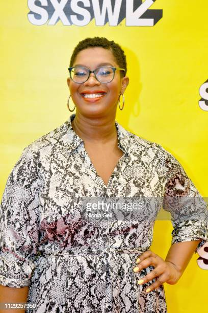 Ashley C Ford attends Featured Session Maria Shriver Alexandra Socha and Farida Sohrabji with Ashley C Ford during 2019 SXSW Conference and Festivals...