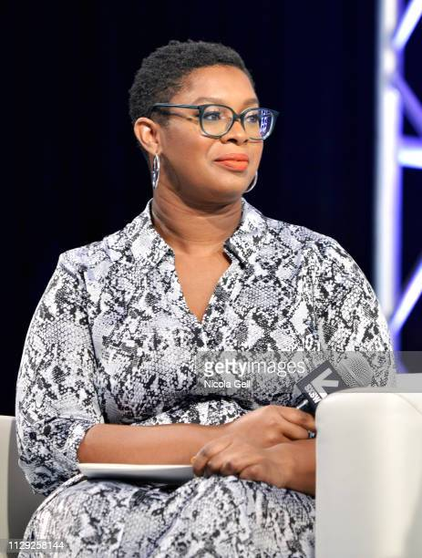 Ashley C Ford speaks onstage at Featured Session Maria Shriver Alexandra Socha and Farida Sohrabji with Ashley C Ford during 2019 SXSW Conference and...