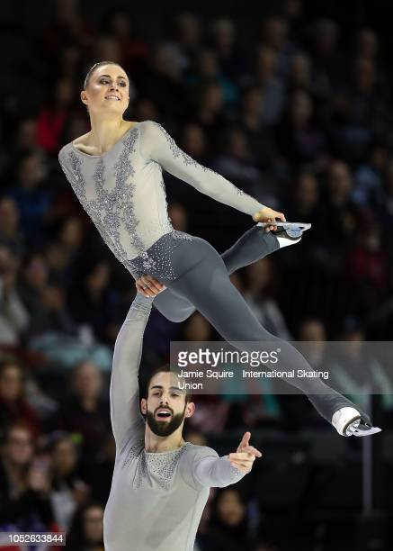 Ashley Cain and Timothy Leduc of the United States compete in the Pairs Fee Skating competition during the ISU Grand Prix of Figure Skating Skate...