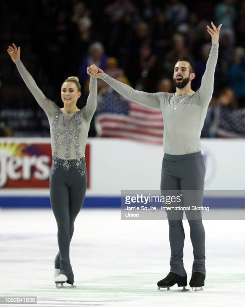 Ashley Cain and Timothy Leduc of the United States compete in the Pairs Free Skating competition during the ISU Grand Prix of Figure Skating Skate...