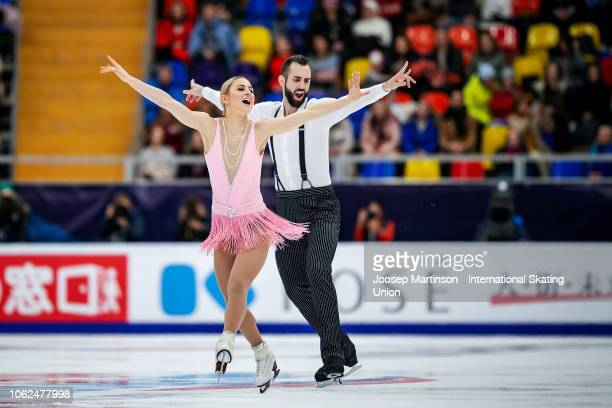 Ashley Cain and Timothy Leduc of the United States compete in the Pairs Short Program during day 1 of the ISU Grand Prix of Figure Skating Rostelecom...