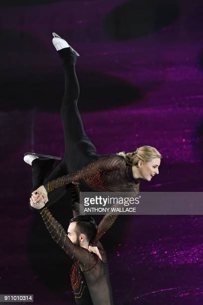 Ashley Cain and Timothy Leduc of the US perform during the closing gala exhibition of the ISU Four Continents figure skating championships in Taipei...