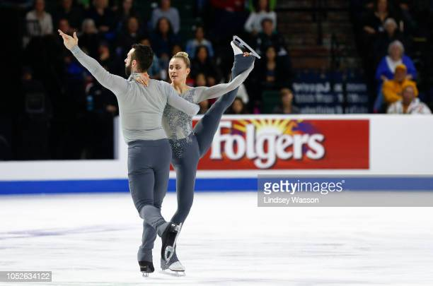 Ashley Cain and Timothy LeDuc of the USA perform during the Pairs Free Skating in day two of the 2018 ISU Grand Prix of Figure Skating Skate America...