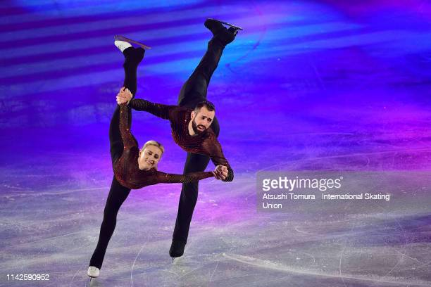Ashley Cain and Timothy Leduc of the USA perform in the exhibition gala during day 4 of the ISU Team Trophy at Marine Messe Fukuoka on April 14 2019...