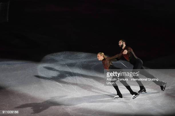 Ashley Cain and Timothy Leduc of the USA perform their routine in the exhibition during day four of the Four Continents Figure Skating Championships...