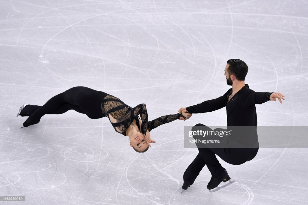 Ashley Cain and Timothy Leduc of United States compete in the Pairs Short Program during ISU Four Continents Figure Skating Championships - Gangneung -Test Event For PyeongChang 2018 at Gangneung Ice Arena on February 16, 2017 in Gangneung, South Korea.