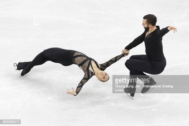 Ashley Cain and Timothy Leduc of United States compete in the Pairs Short during ISU Four Continents Figure Skating Championships Gangneung Test...