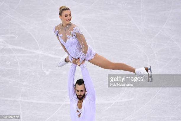 Ashley Cain and Timothy Leduc of United States compete in the Pairs Free Skating during ISU Four Continents Figure Skating Championships Gangneung...