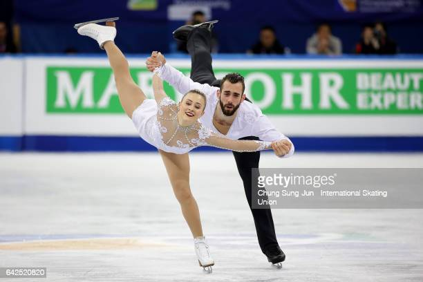 Ashley Cain and Timothy Leduc of United States compete in the Pairs free program during ISU Four Continents Figure Skating Championships Gangneung...