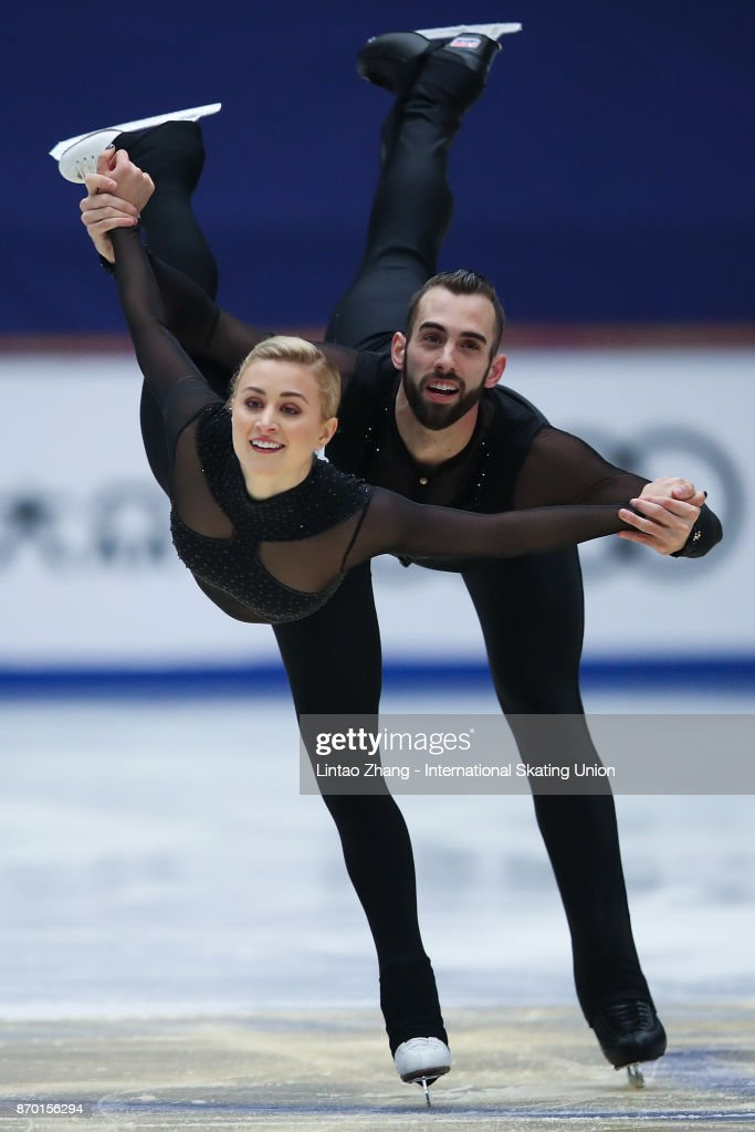 Ashley Cain and Timothy Leduc of United States competes in the Pairs Free Skating on day two of Audi Cup of China ISU Grand Prix of Figure Skating 2017 at Beijing Capital Gymnasium on November 4, 2017 in Beijing, China.