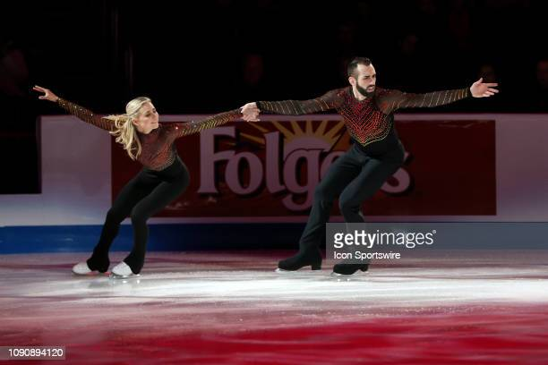 DETROIT MI Ashley Cain and Timothy LeDuc skate in the skating spectacular exhibition following the 2019 US Figure Skating Championships at Little...
