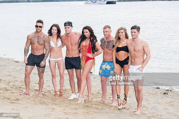 Ashley Cain Jess Impiazzi Gary Beadle Charlotte Dawson David Hawley Lillie Lexie Gregg and Jordan Davies attends the cast of 'Ex on The Beach'...