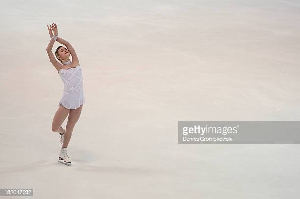 Ashley Cain of the United States competes in the Ladies Free Skating competition during day two of the ISU Nebelhorn Trophy at Eissportzentrum...