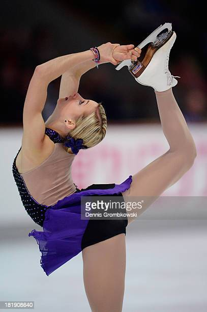 Ashley Cain of the United States competes in the Ladies Short Program during day one of the ISU Nebelhorn Trophy at Eissportzentrum Oberstdorf on...