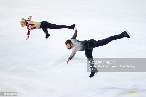 Ashley Cain-Gribble and Timothy Leduc of the United States compete in the Pairs Short Program during day 1 of the ISU Grand Prix of Figure Skating...