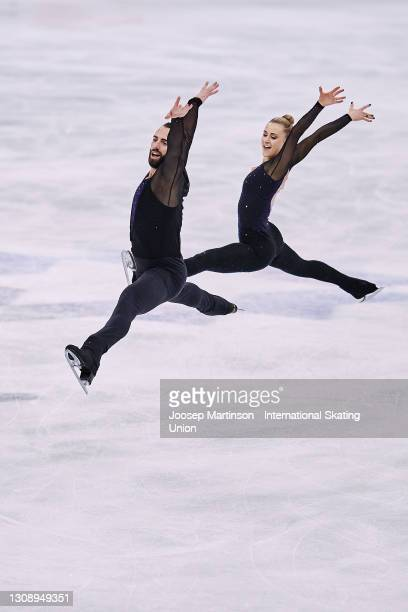 Ashley Cain-Gribble and Timothy Leduc of the United States compete in the Pairs Short Program during day one of the ISU World Figure Skating...