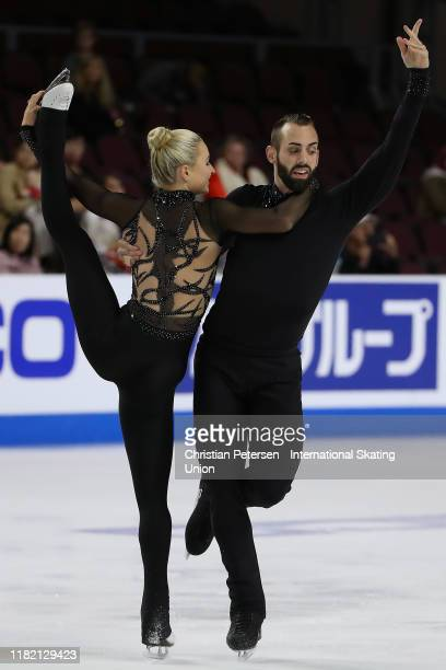 Ashley Cain-Gribble and Timothy Leduc of the United States perform during pairs free skating in the ISU Grand Prix of Figure Skating Skate America at...
