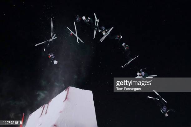Ashley Caldwell of the United States competes in the Ladies' Aerials Final at the FIS Freestyle Ski World Championships on February 06 2019 at Deer...