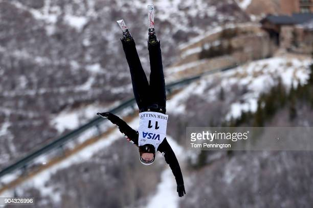 Ashley Caldwell of the United States competes in the Ladies' Aerials qualifying during the 2018 FIS Freestyle Ski World Cup at Deer Valley Resort on...