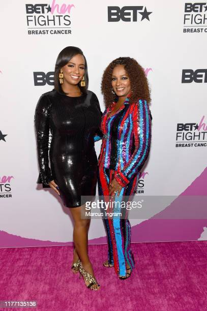 Ashley Calloway and Vanessa Bell Calloway attend 'BET Her Fights Breast Cancer' special event at The Riverside EpiCenter on September 25 2019 in...