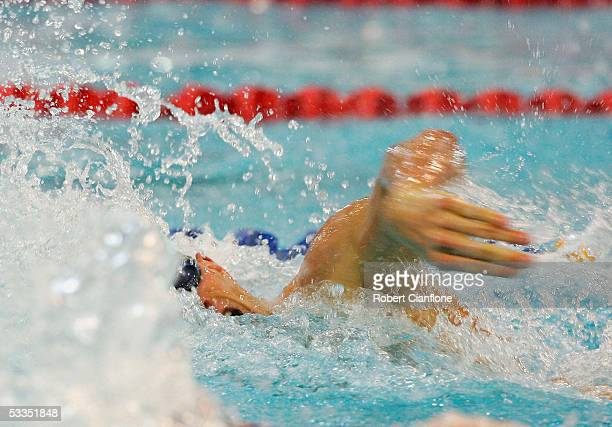 Ashley Callus in action during the mens 100metre freestyle final on day five of the Australian Short Course Championships at the Melbourne Sports and...