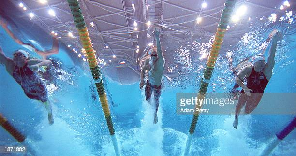 Ashley Callus of Australia in action in the 100m freestyle semifinal during the Telstra Australian Championships at the Sydney International Aquatic...