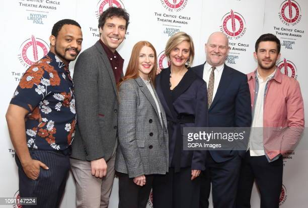 Ashley Campbell Alex Gaumond Rosalie Craig Marianne Elliott Christopher Harper and Jonathan Bailey at The Critics' Circle Theatre Awards at the...
