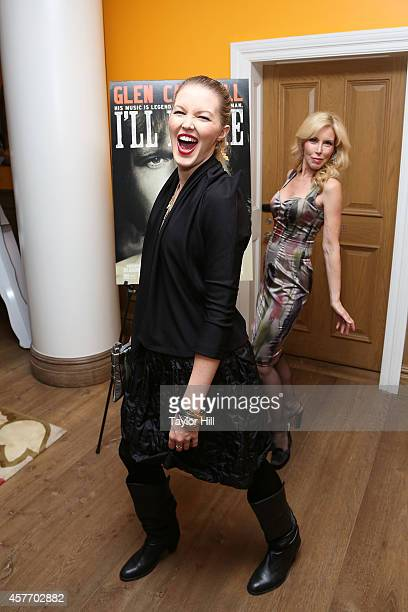 Ashley Campbell and Kim Campbell attend the 'Glen CampbellI'll Be Me' New York Premiere at Crosby Street Hotel on October 22 2014 in New York City
