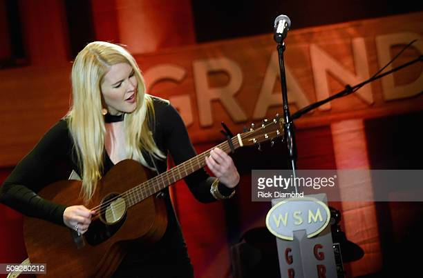 Ashley Campbell performs during Grand Ole Opry at CRS Day 1 at Omni Hotel on February 8, 2016 in Nashville, Tennessee.
