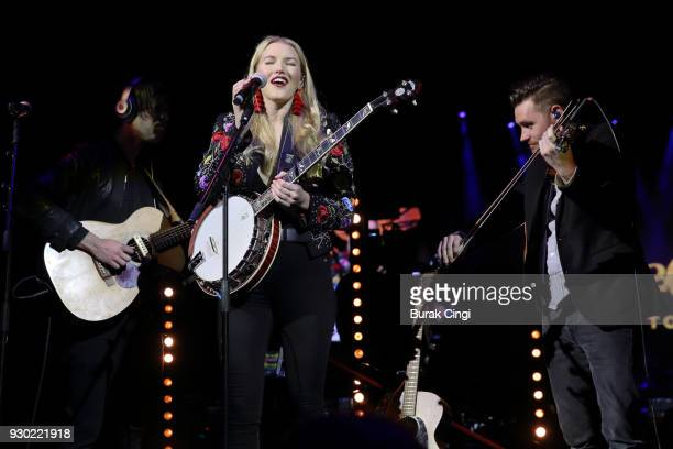 Ashley Campbell performs on day 2 of C2C Country to Country festival at The O2 Arena on March 10 2018 in London England