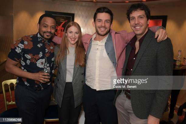 Ashley Campbell Rosalie Craig Jonathan Bailey and Alex Gaumond of Company The Critics' Circle Theatre Awards 2019 at The Prince of Wales Theatre on...