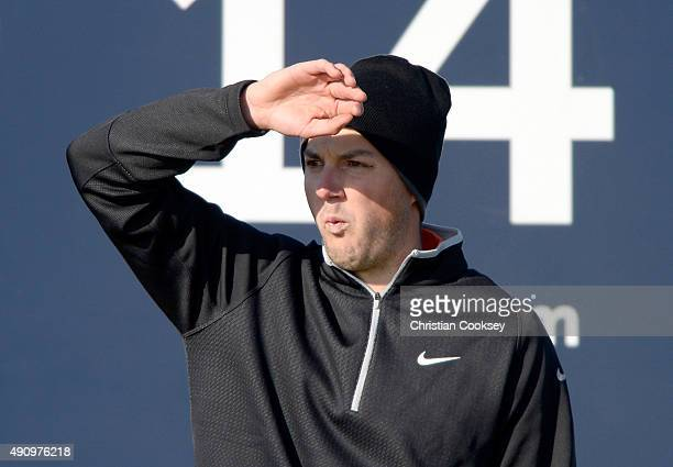 Ashley Chesters of England on the 14th tee during the second round of the 2015 Alfred Dunhill Links Championship at The Old Course on October 2 2015...