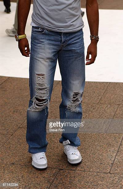 Ashley Cole arrives at the UK Premiere of 'I Robot' at Odeon Leicester Square on August 4 2004 in London