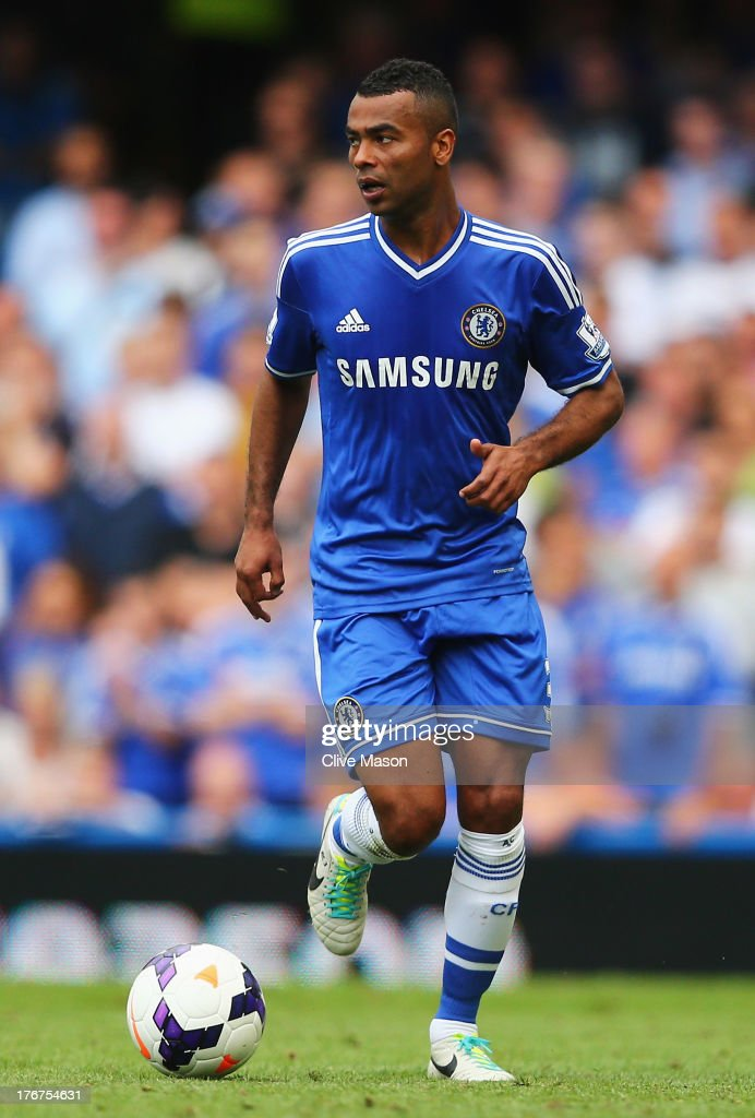 Ashley Cole of Chelsea in action during the Barclays Premier League match between Chelsea and Hull City at Stamford Bridge on August 18, 2013 in London, England.