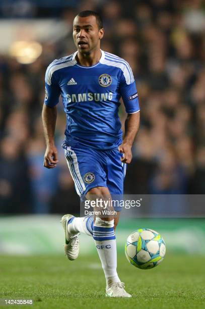 Ashley Cole of Chelsea in action during the UEFA Champions League Quarter Final second leg match between Chelsea FC and SL Benfica at Stamford Bridge...