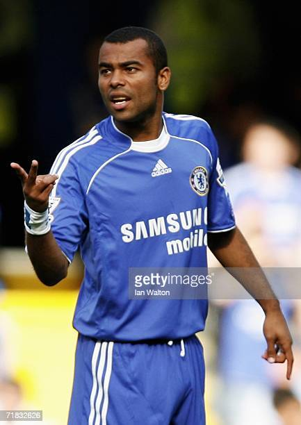 Ashley Cole of Chelsea in action on his debut during the Barclays Premiership match between Chelsea and Charlton Athletic at Stamford Bridge on...