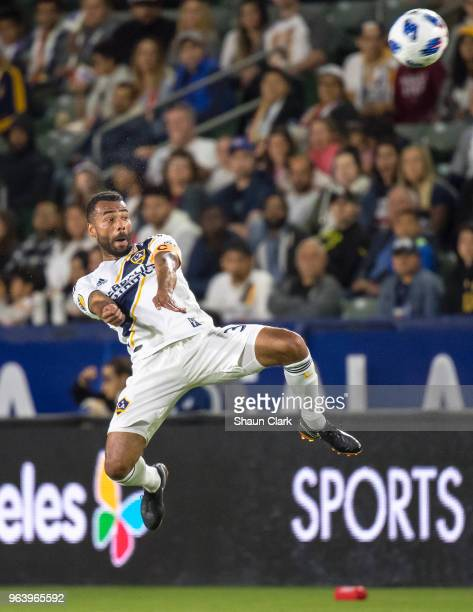 Ashley Cole of Los Angeles Galaxy during the Los Angeles Galaxy's MLS match against FC Dallas at the StubHub Center on May 30, 2018 in Carson,...