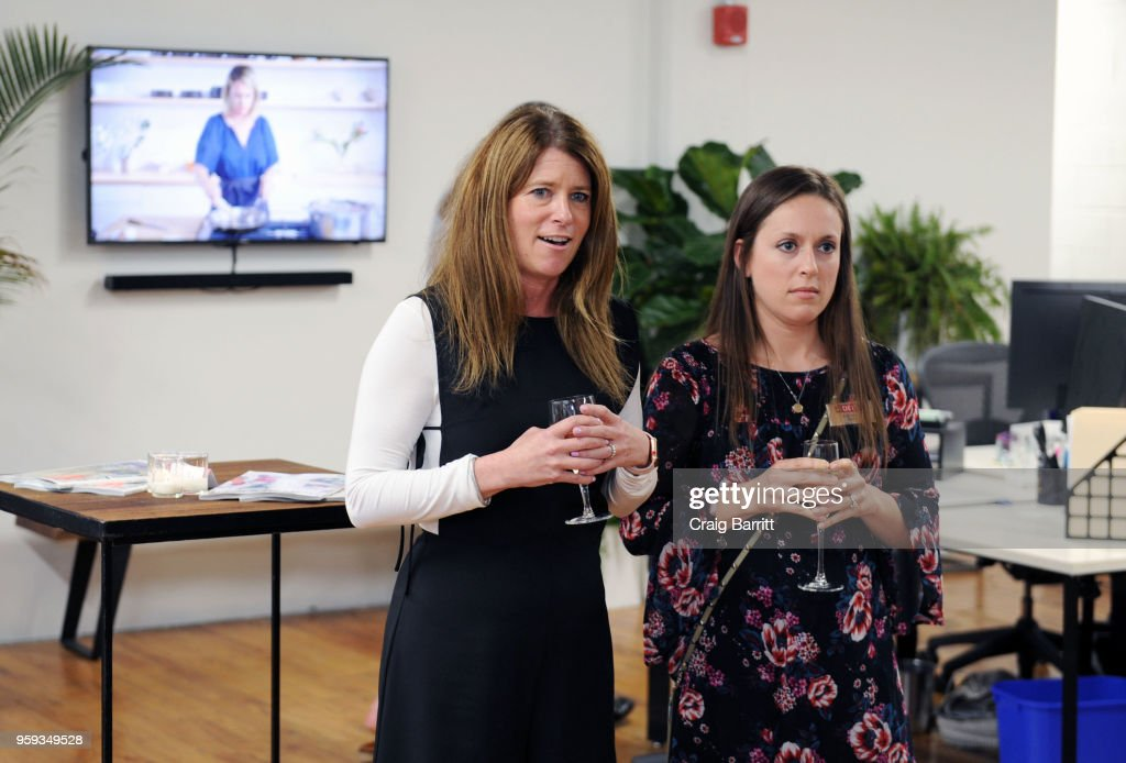 Ashley Connor and Rachel Weise attend the AD, Bon Appetit and Delta Faucet toast of the Conde Nast Kitchen Studio on May 16, 2018 in New York City.