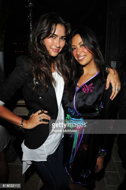 Ashley Cotner and Sylvie Cachay attend DOM PERIGNON closes Fashion Week with a tribute to Andy Warhol at VILLA PACRI NYC on September 16 2010 in New...