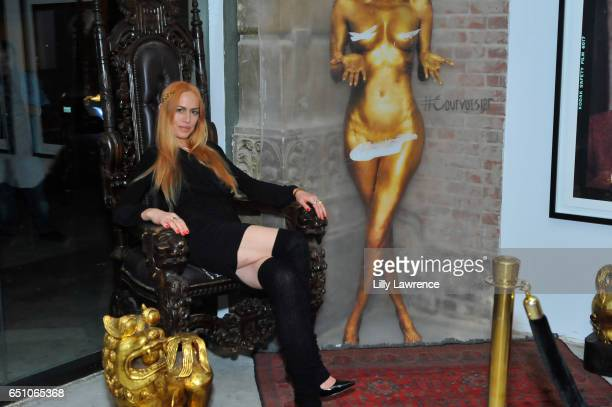 Ashley Cummings attends Karen Bystedt's 'Kings And Queens' exhibition on March 9 2017 in Los Angeles California