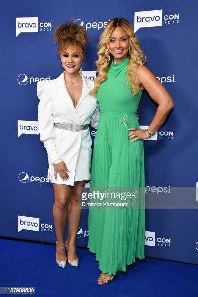 Ashley Darby and Gizelle Bryant attend the opening night of 2019 BravoCon at Hammerstein Ballroom on November 15 2019 in New York City