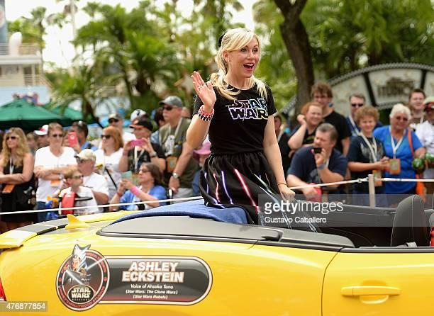 Ashley Eckstein participates in Star Wars Weekend at Walt Disney World on June 12 2015 in Orlando Florida