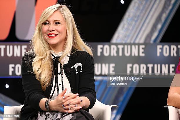 Ashley Eckstein speaks onstage during the Entrepreneurship 2016 Tales From the Trenches session at Fortune MPW Next Gen 2016 on November 30 2016 in...