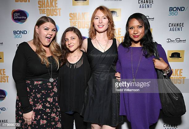 Ashley Fink Urban Arts Partnership's Anna Strout Alicia Witt and Tracie Thoms attend the Shake The Dust Hollywood premiere with executive producer...