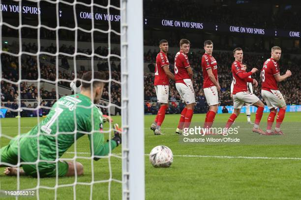 Ashley Fletcher, Dael Fry, Paddy McNair, Jonny Howson and Adam Clayton of Middlesbrough look round to see goalkeeper Tomas Mejias save a free-kick...